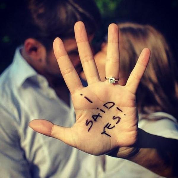i said yes engagement photo ideas with ring shot
