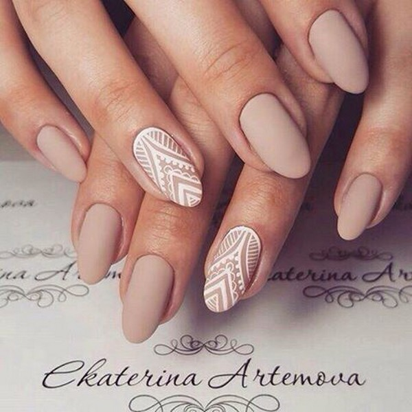 lace design bridal nail ideas