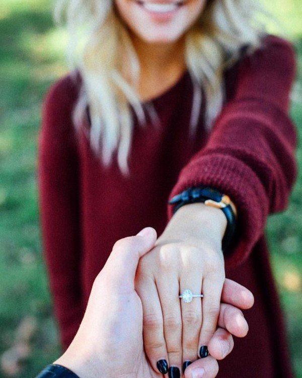 ring shot romantic engagement photo ideas