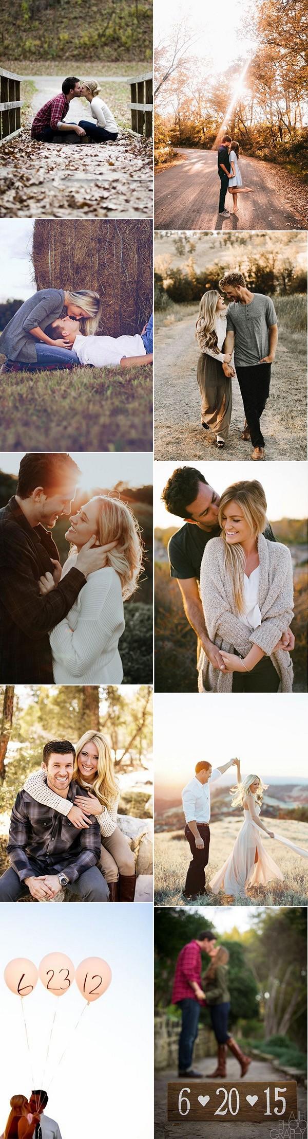 romantic engagement photo pose ideas