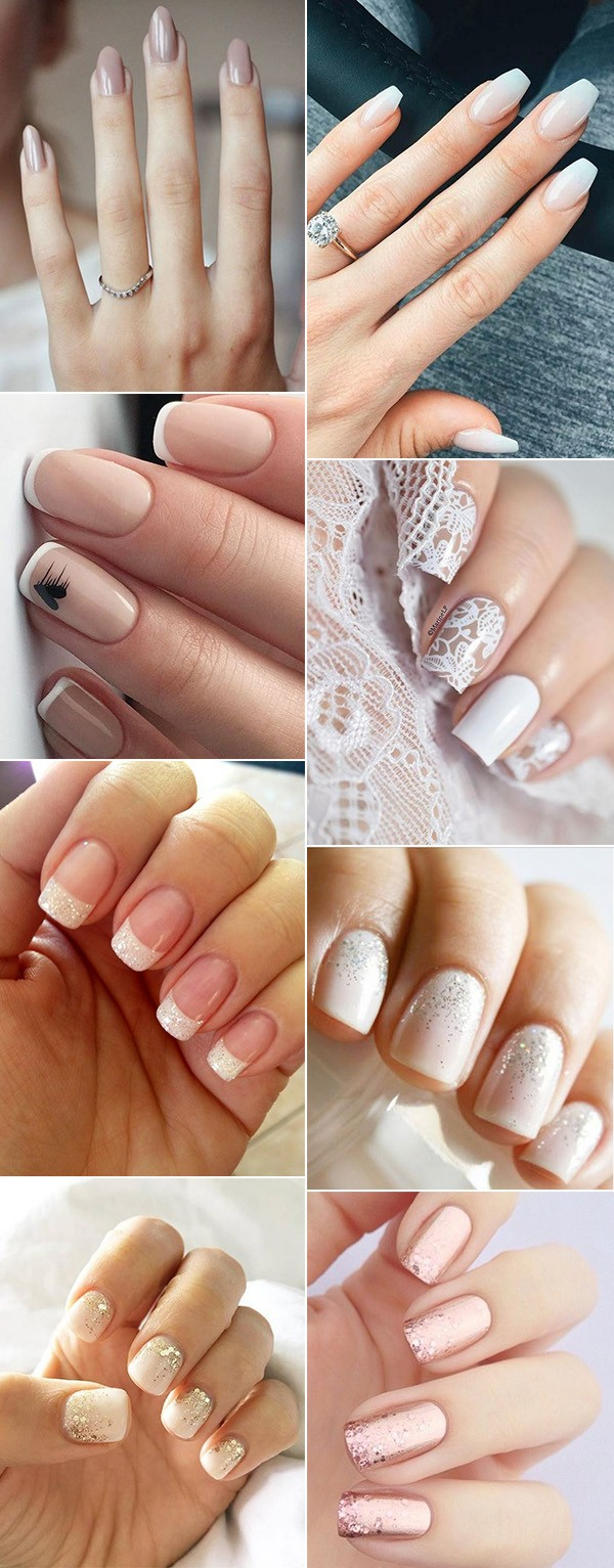 trending elegant wedding nail design ideas
