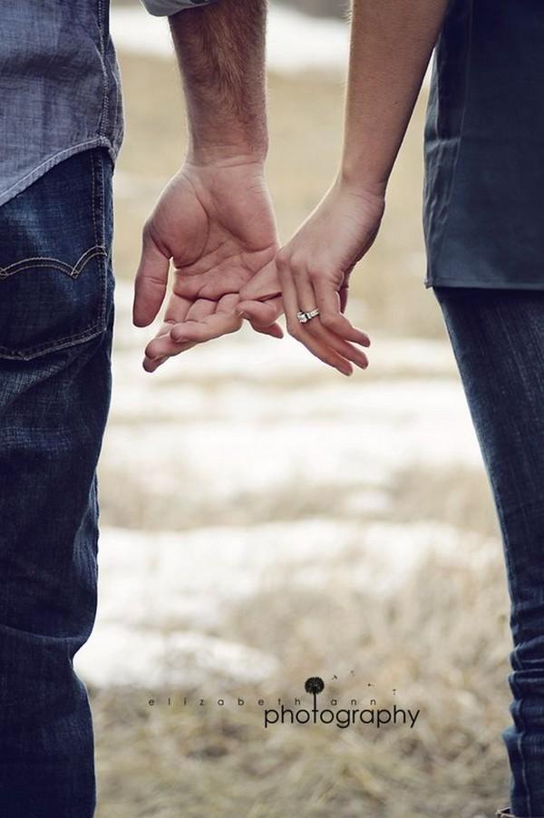 unique engagement photo with ring shot