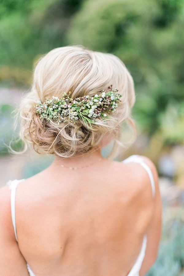 updo boho chic wedding hairstyle