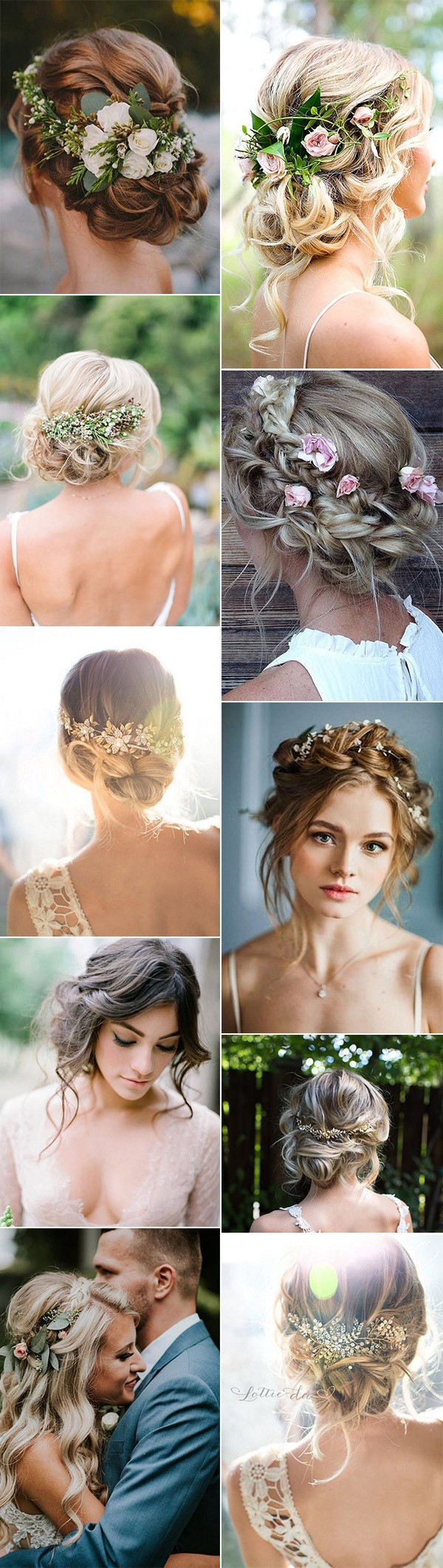 updos boho chic wedding hairstyles