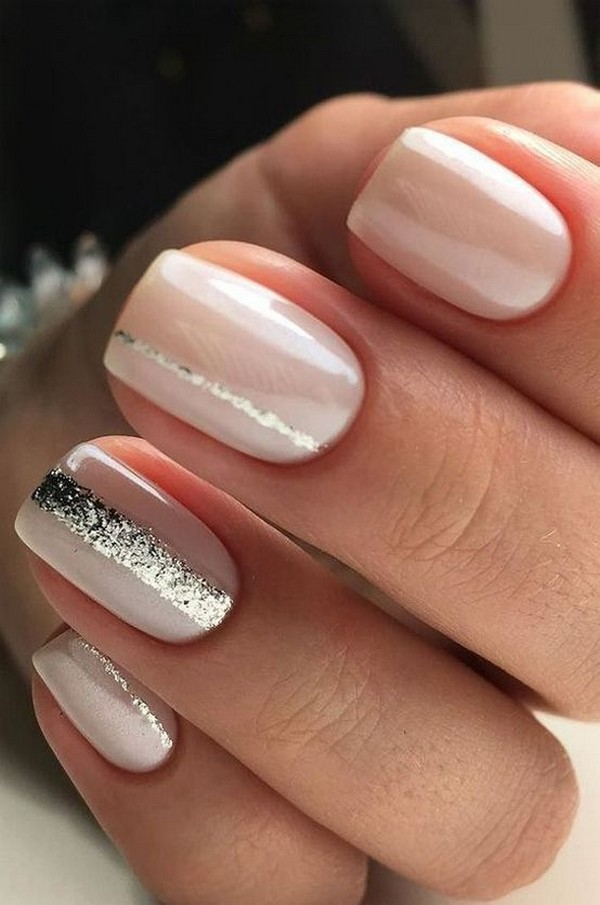 wedding nail ideas with a touch of glitter