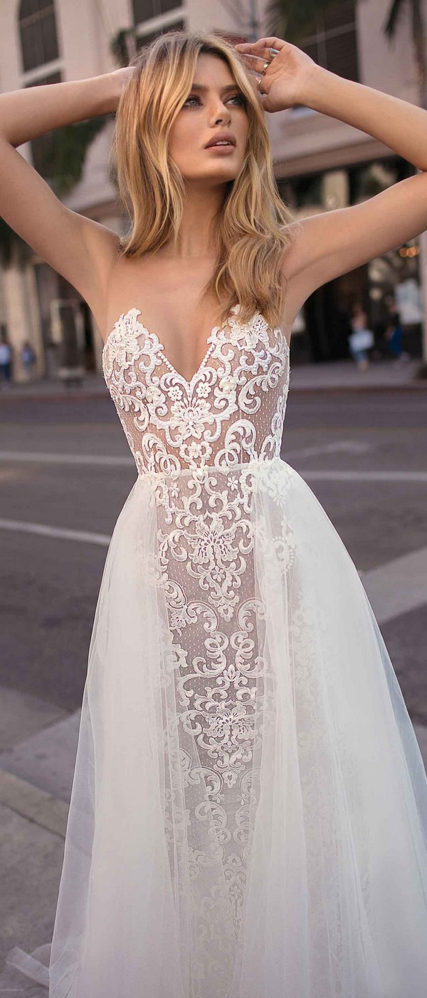 Berta by Muse Camila illusion v neck wedding dress 2019 collection