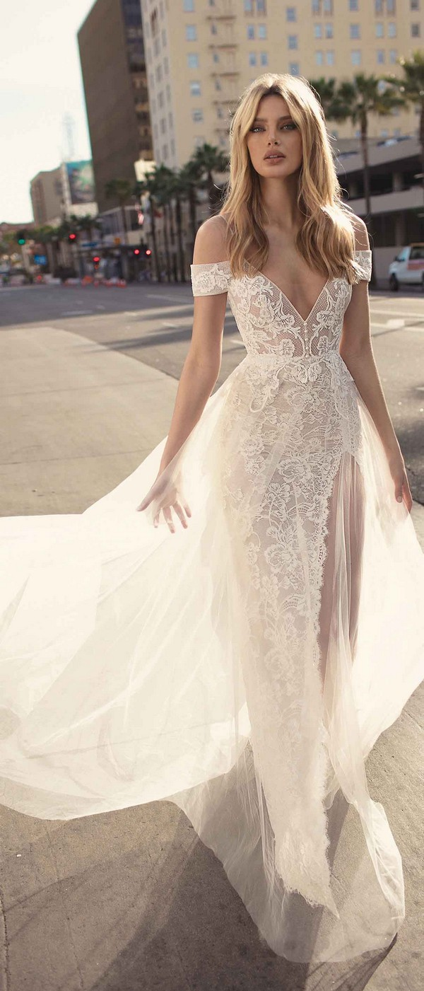 Berta by Muse Charlotte off the shoulder wedding dress 2019 collection