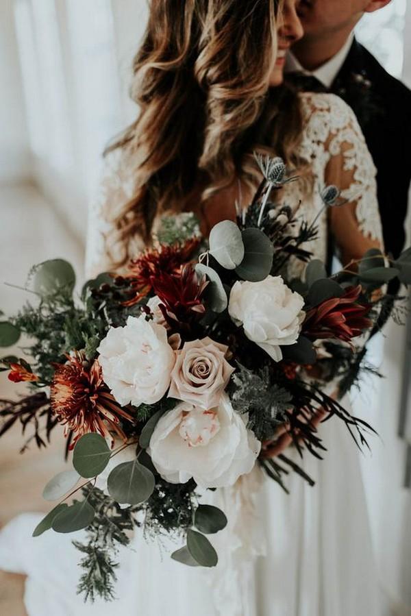 chic fall wedding bouquet ideas