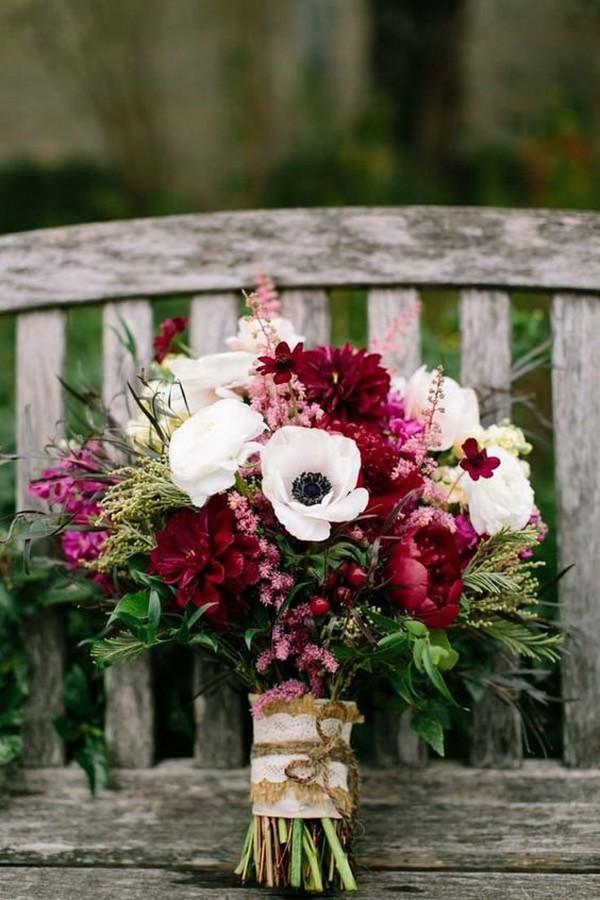 chic rustic fall wedding bouquet