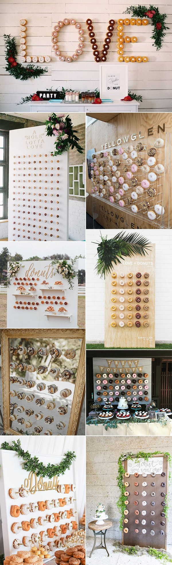 chic wedding donuts walls for reception ideas