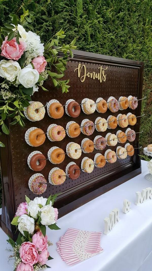 Backyard Wedding Ideas.Donut Wall For Outdoor Backyard Wedding Ideas Emmalovesweddings