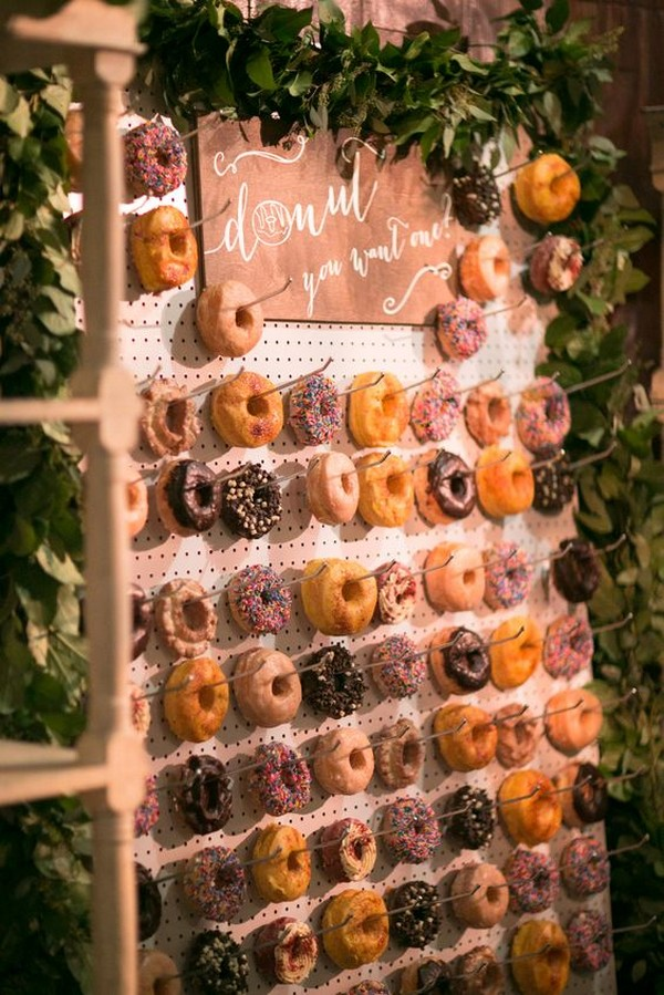 donuts wall ideas for wedding reception