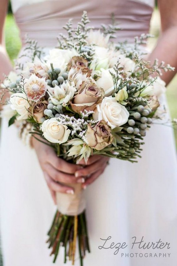 earth neutral colors fall wedding bouquet