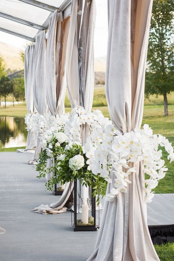 Elegant Outdoor Wedding Entrance Decoration Ideas Emmalovesweddings