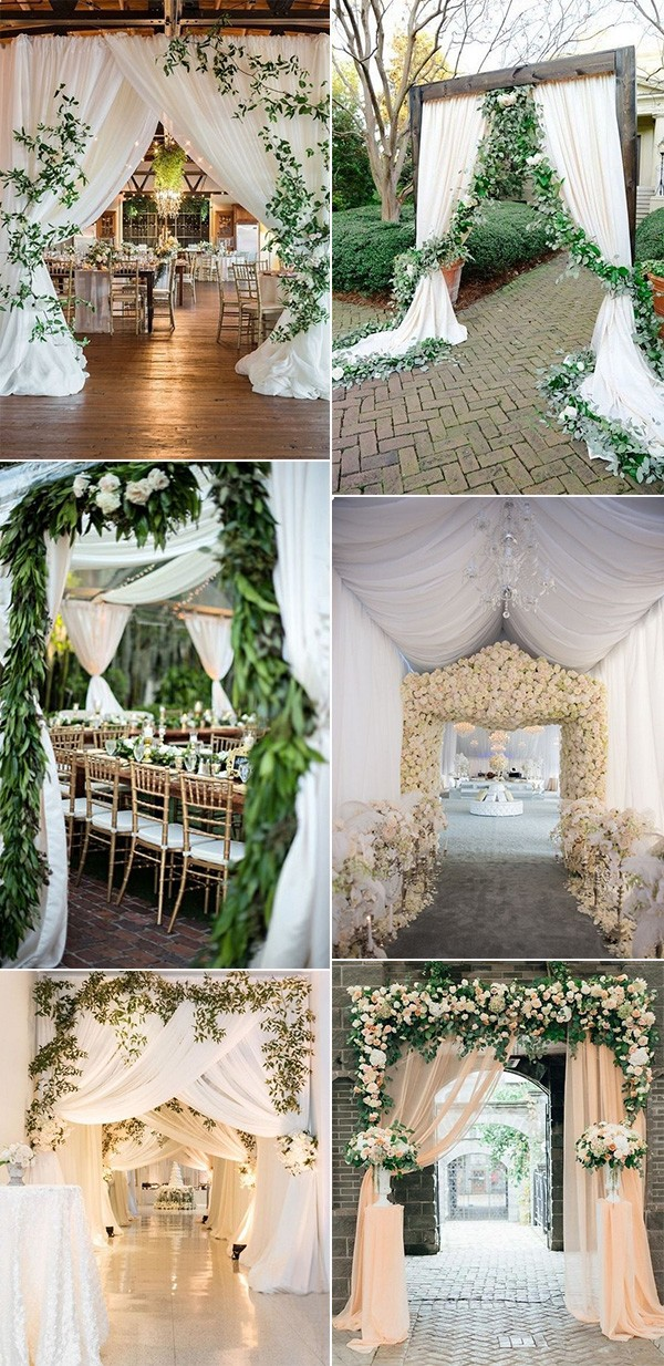 elegant wedding entrance decoration ideas