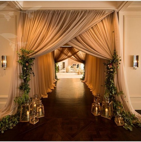 Elegant Wedding Reception Decoration: Top 20 Wedding Entrance Decoration Ideas For Your