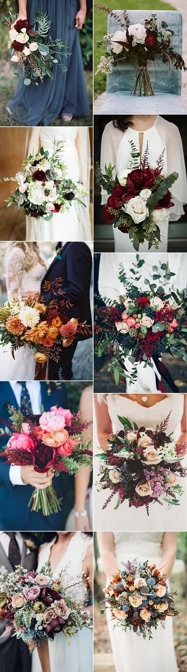fall wedding bouquet ideas for 2018 trends