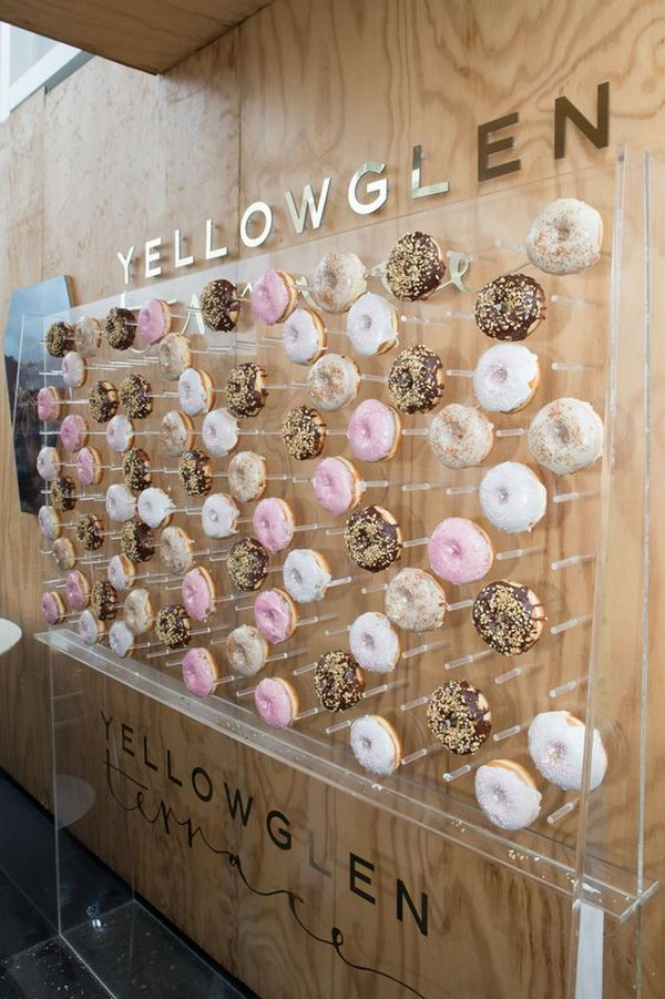 modern wedding donut wall decoration ideas - EmmaLovesWeddings