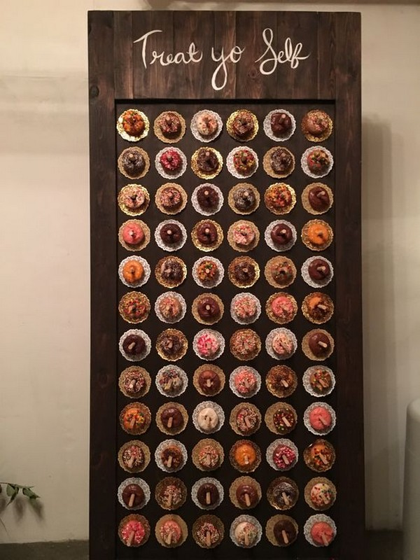 mouth watering wedding donuts wall ideas