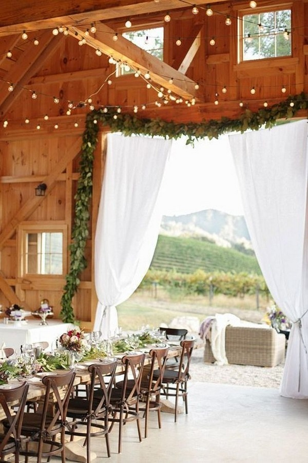 reception entrance decoration ideas for barn weddings
