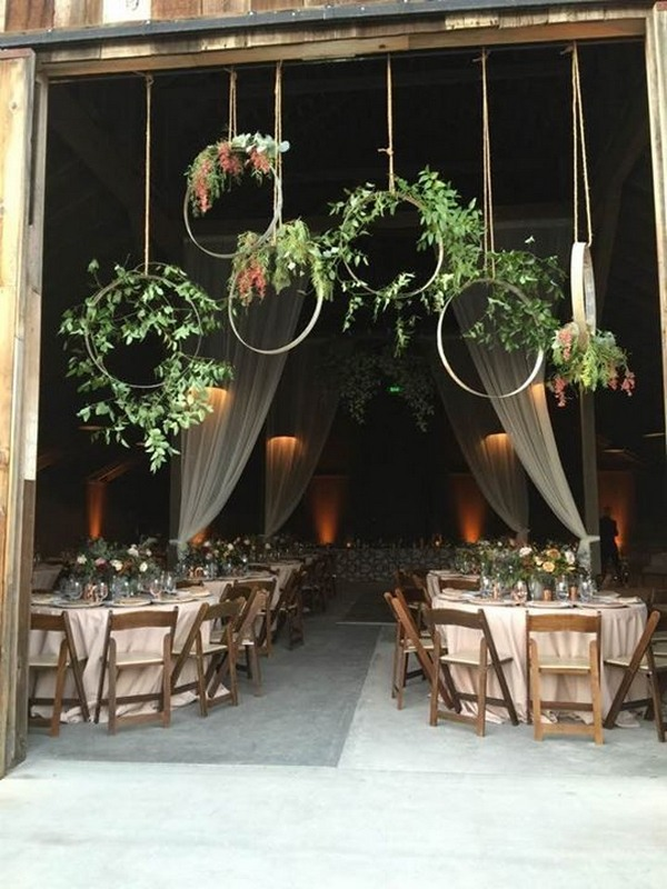 Rustic Barn Wedding Reception Entrance Decoration Ideas