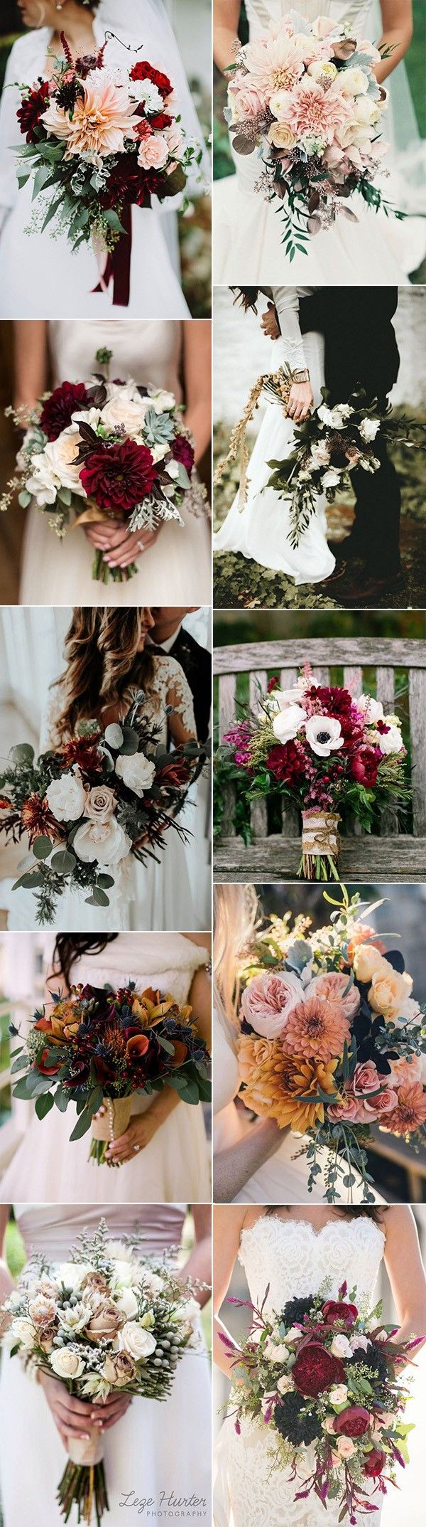 trending fall wedding bouquets for 2018