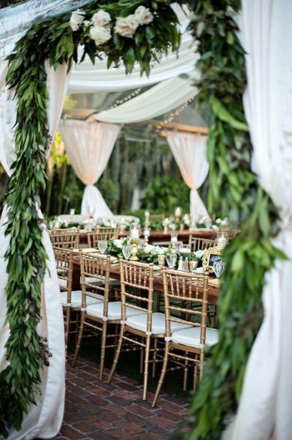 trending greenery wedding reception decoration ideas