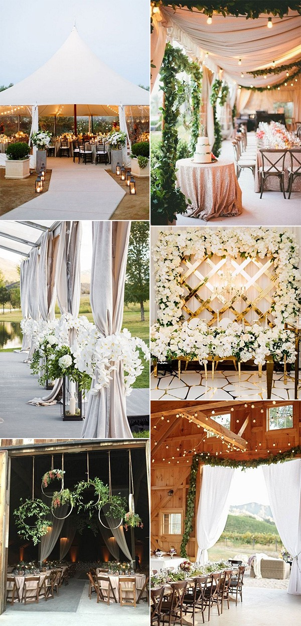 trending wedding reception entrance decoration ideas