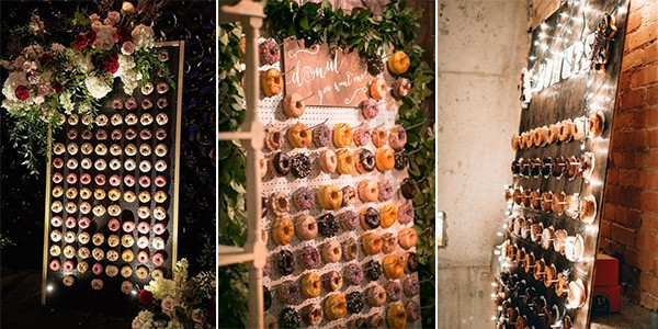 wedding donuts wall ideas