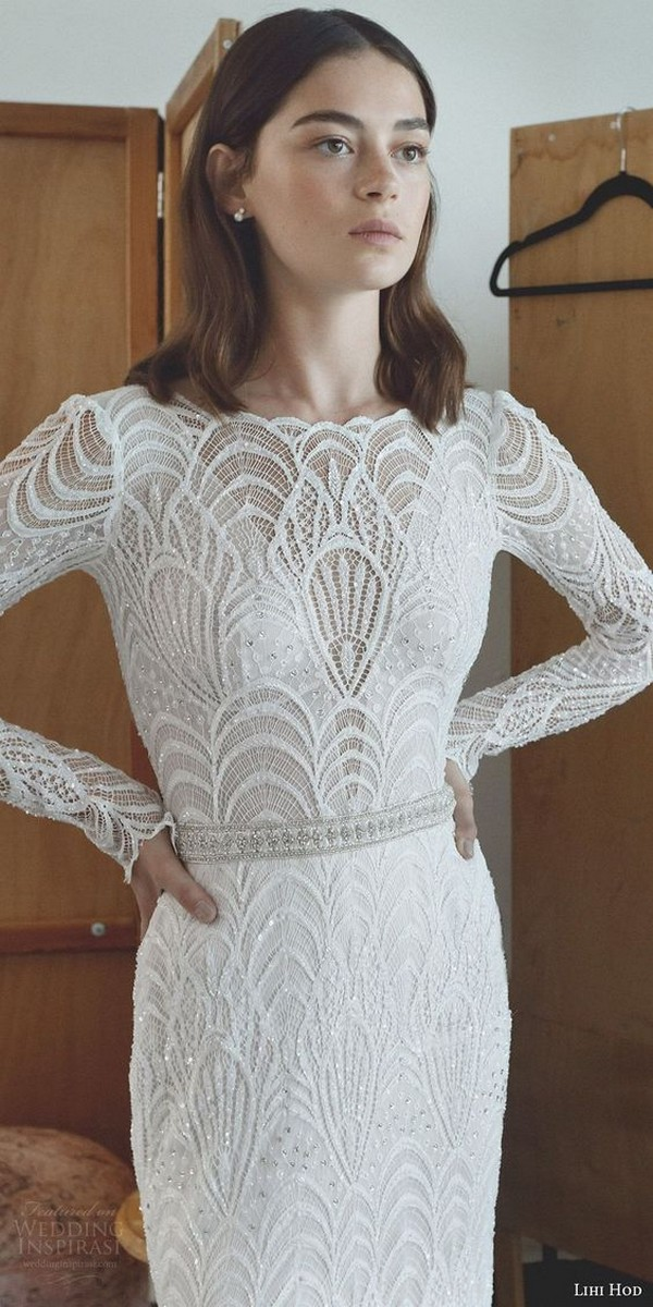 Lihi Hod bridal dress with long sleeves