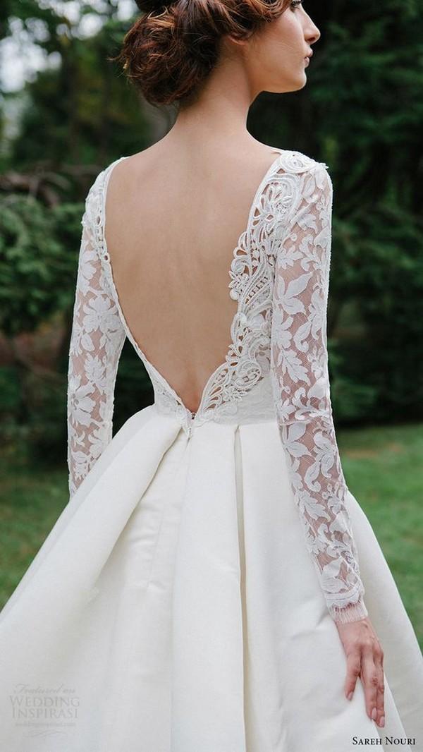 Sareh Nouri wedding dress with long lace sleeves