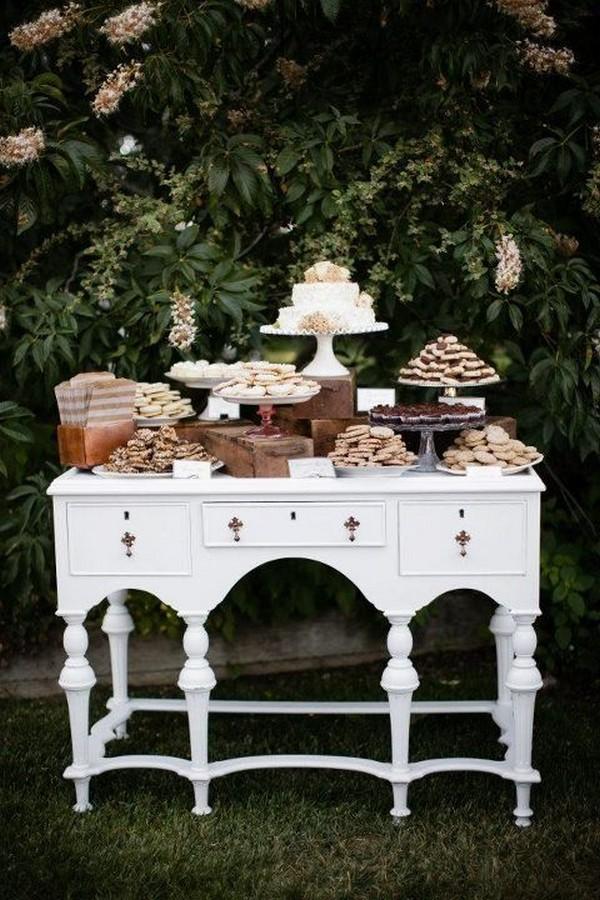 boho chic outdoor wedding dessert buffet ideas