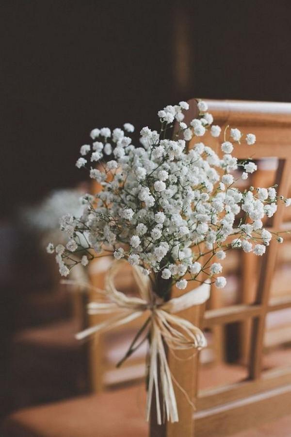 budget baby's breath wedding aisle ideas