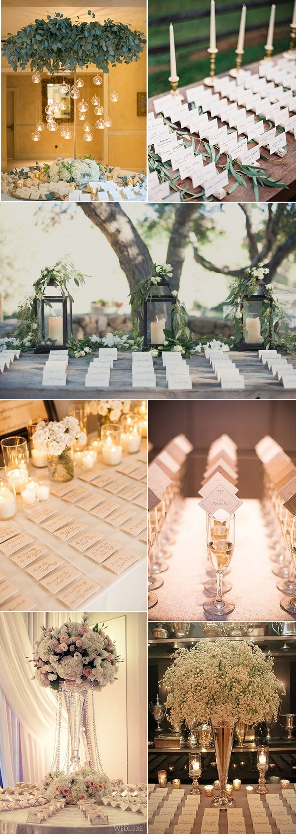 chic elegant wedding place card table ideas