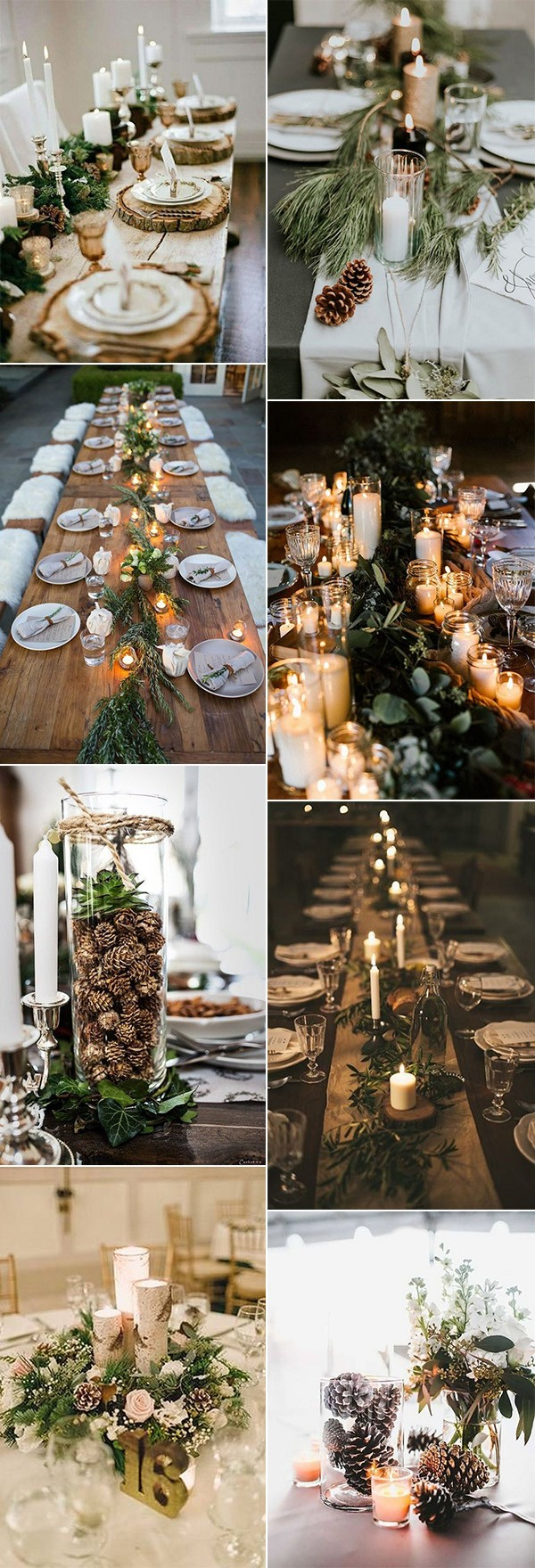 chic rustic winter wedding centerpieces for 2018
