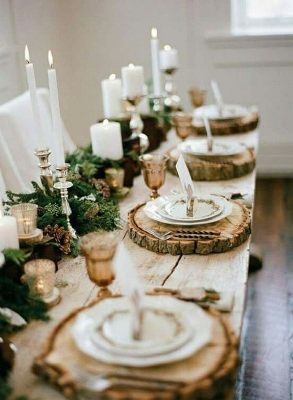 Chic Rustic Winter Wedding Centerpieces