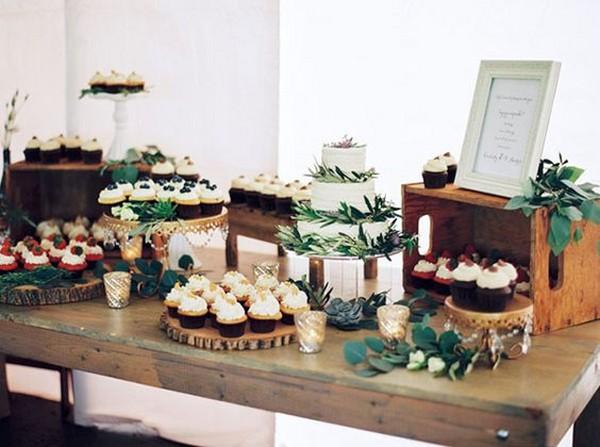 chic wedding dessert display ideas