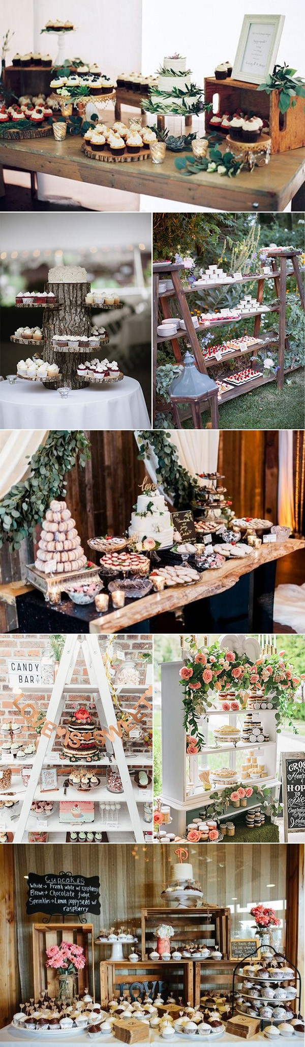chic wedding dessert table display ideas
