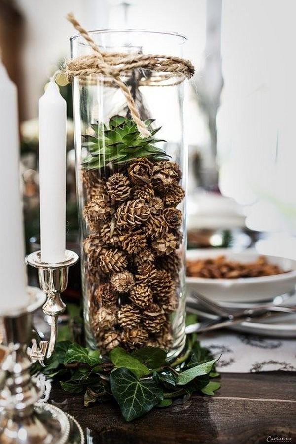 chic winter wedding centerpiece ideas