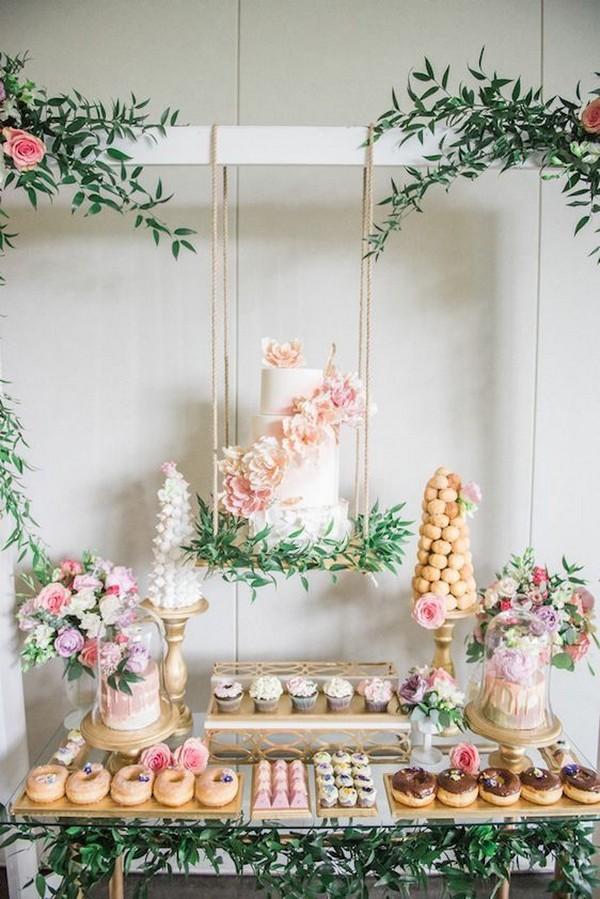 gorgeous wedding dessert display ideas