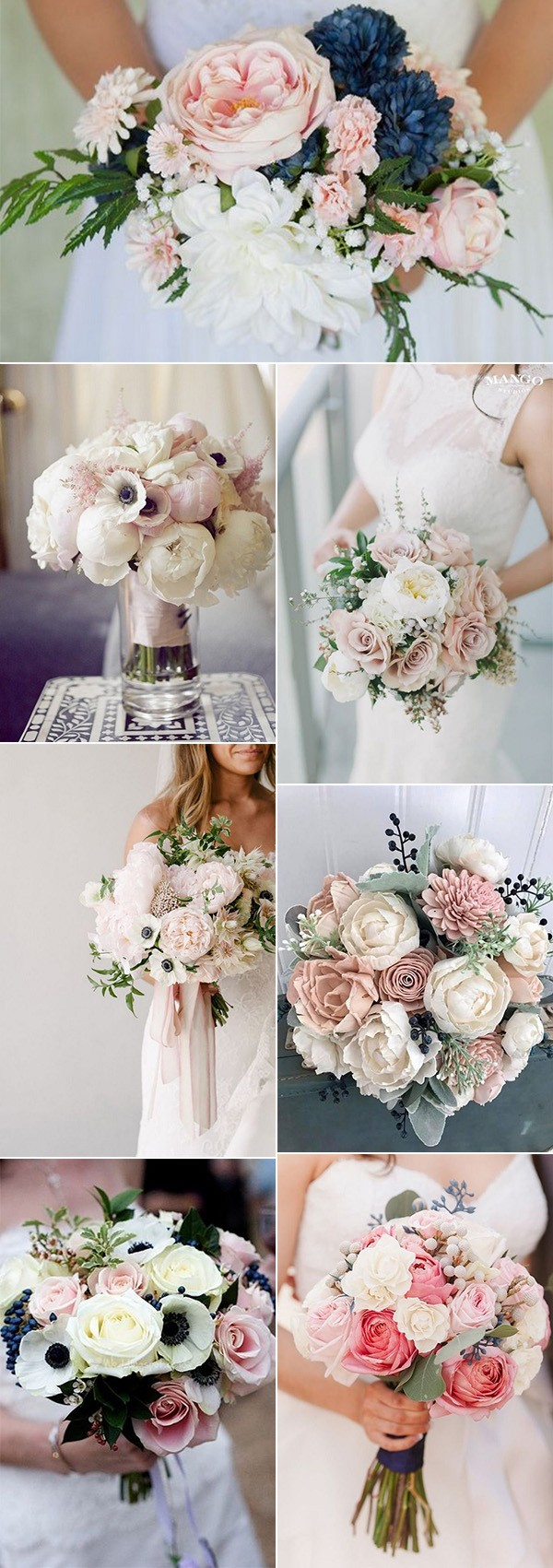 15 Adorable Navy Blue And Blush Pink Wedding Bouquets Page 2 Of 2