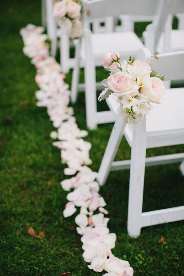 outdoor floral wedding aisle decor ideas - EmmaLovesWeddings