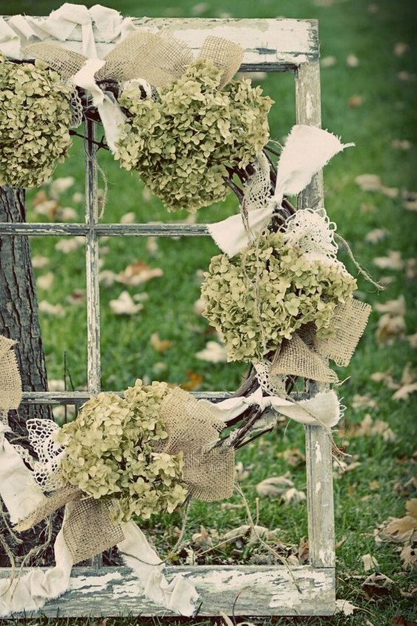 rustic outdoor wedding decorations with vintage window