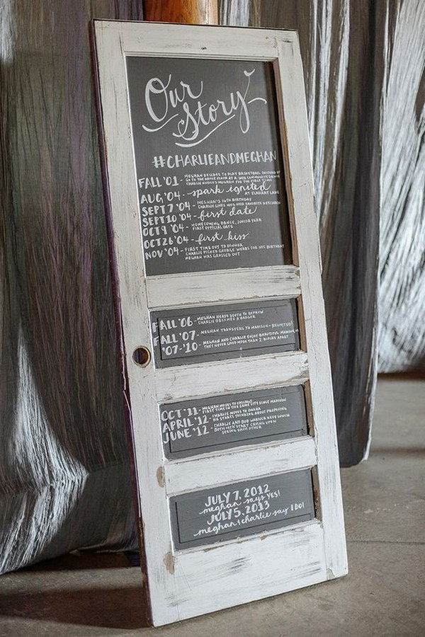 rustic vintage door wedding sign ideas