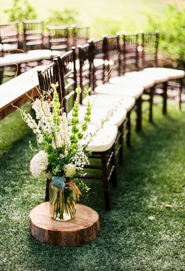 rustic wedding aisle decoration ideas
