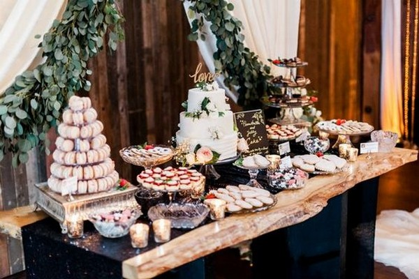 20 Delightful Wedding Dessert Display And Table Ideas To