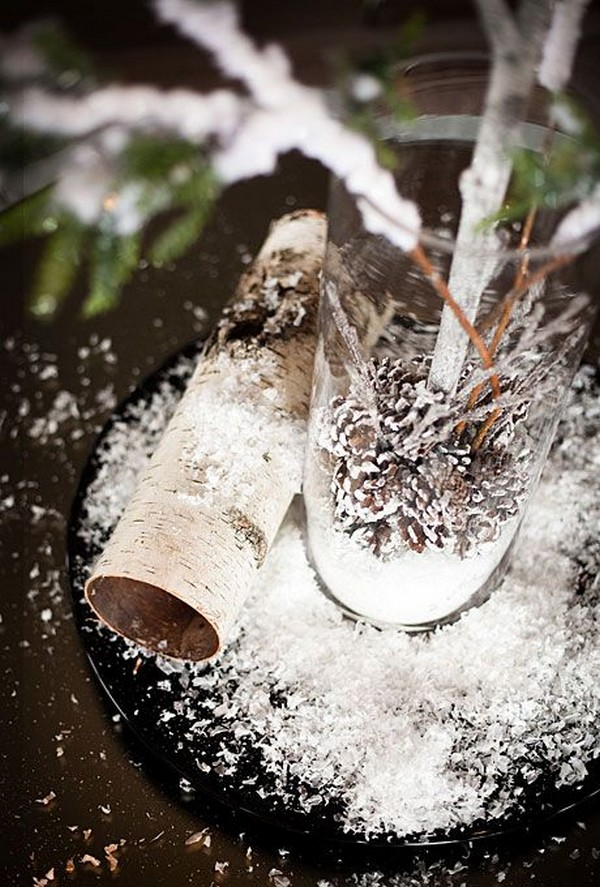 rustic winter wedding centerpiece ideas