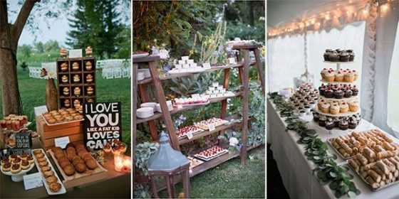 trending wedding dessert display ideas