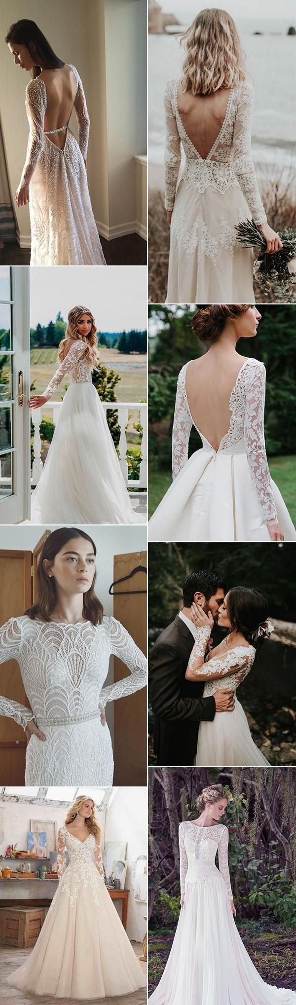 trending wedding dresses with long sleeves