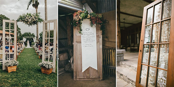 vintage door wedding decorations